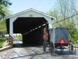 Covered Bridge Amish Buggy 2