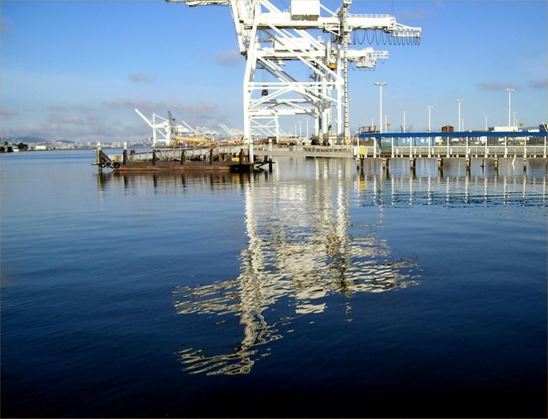 Oil rigs in Oakland Harbor