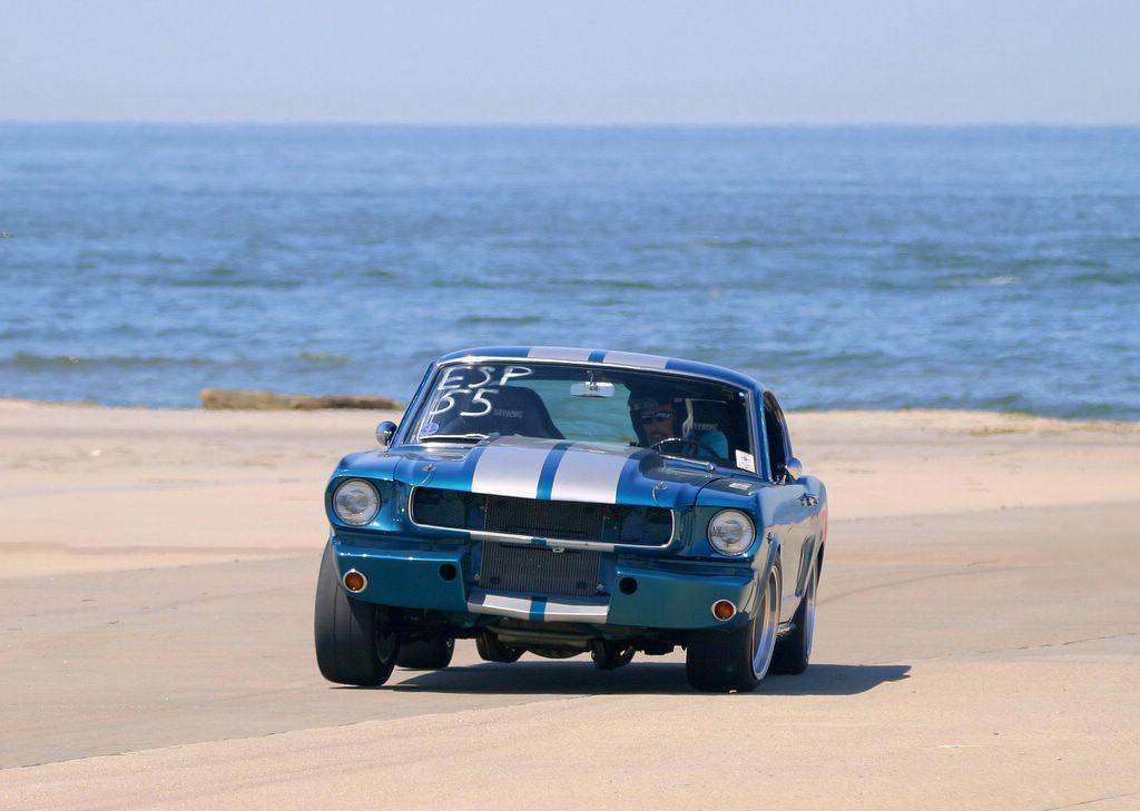 Green 66 Mustang No Cones