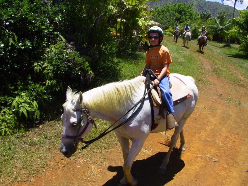 Mike on his horse, Pikake