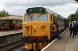 Class 50 no. 50007 Sir Edward Elgar at Ramsbottom station