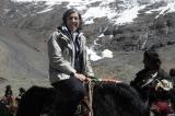 yak rider tibet