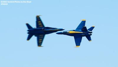 USN Blue Angels F/A-18 Hornets military aviation air show stock photo #4149