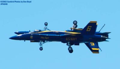 USN Blue Angels F/A-18 Hornets military aviation air show stock photo #4152