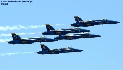 USN Blue Angels F/A-18 Hornets military aviation air show stock photo #4172