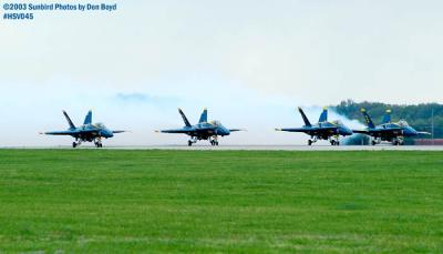 USN Blue Angels F/A-18 Hornet formation takeoff military aviation air show stock photo #3731