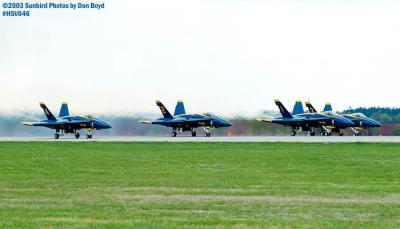 USN Blue Angels F/A-18 Hornet formation takeoff military aviation air show stock photo #3732