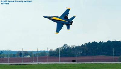 USN Blue Angels F/A-18 Hornet #5 military aviation air show stock photo #3735