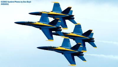 USN Blue Angels F/A-18 Hornets military aviation air show stock photo #3737