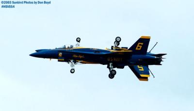 USN Blue Angels F/A-18 Hornets military aviation air show stock photo #3740
