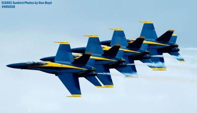 USN Blue Angels F/A-18 Hornets military aviation air show stock photo #3744