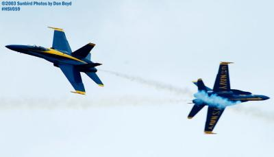 USN Blue Angels F/A-18 Hornets military aviation air show stock photo #3745