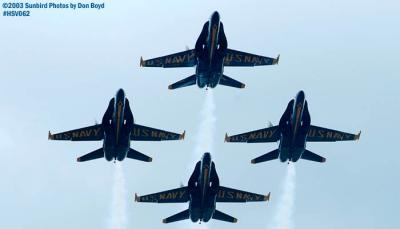 USN Blue Angels F/A-18 Hornets military aviation air show stock photo #3751