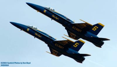 USN Blue Angels F/A-18 Hornets military aviation air show stock photo #3754
