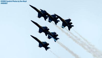 USN Blue Angels F/A-18 Hornets military aviation air show stock photo #3758