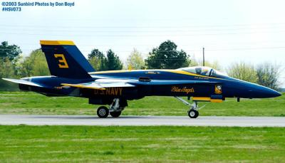 USN Blue Angels F/A-18 Hornet #3 military aviation air show stock photo #3765