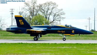 USN Blue Angels F/A-18 Hornet #5 military aviation air show stock photo #3768