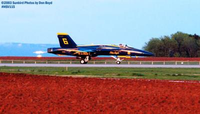 USN Blue Angels F/A-18 Hornet #6 military aviation air show stock photo #3834
