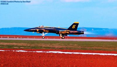 USN Blue Angels F/A-18 Hornet #6 military aviation air show stock photo #3837