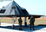 USAF F-117A Nighthawk AF81-798 from 49th Fighter Wing, Holloman AFB military aviation air show stock photo #4095