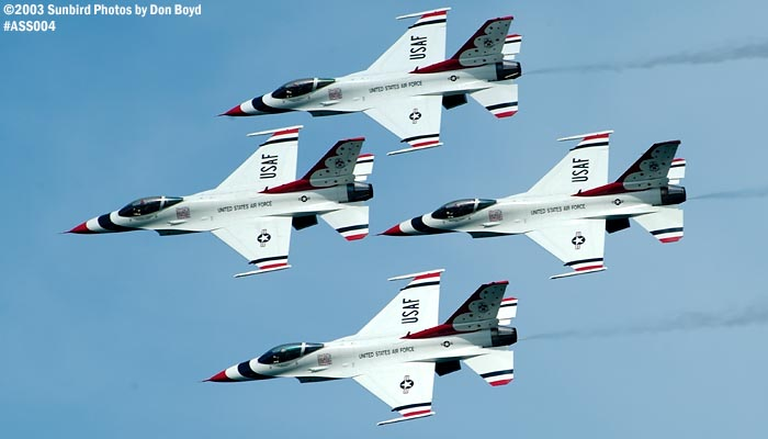 USAF Thunderbirds military aviation air show stock photo #4341