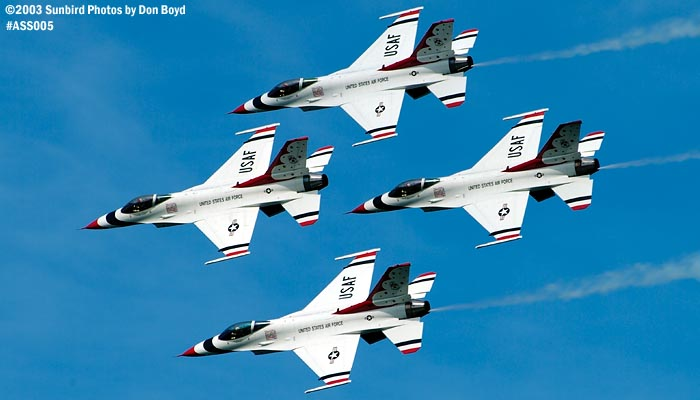 USAF Thunderbirds military aviation air show stock photo #4342