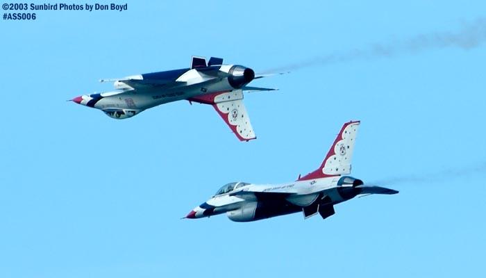 USAF Thunderbirds military aviation air show stock photo #4351