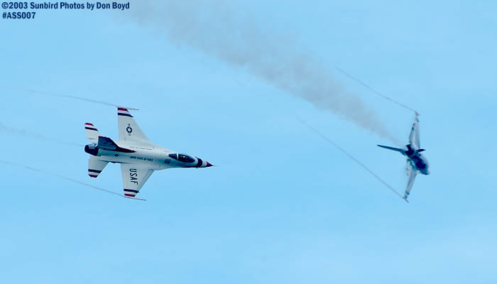 USAF Thunderbirds military aviation air show stock photo #4352