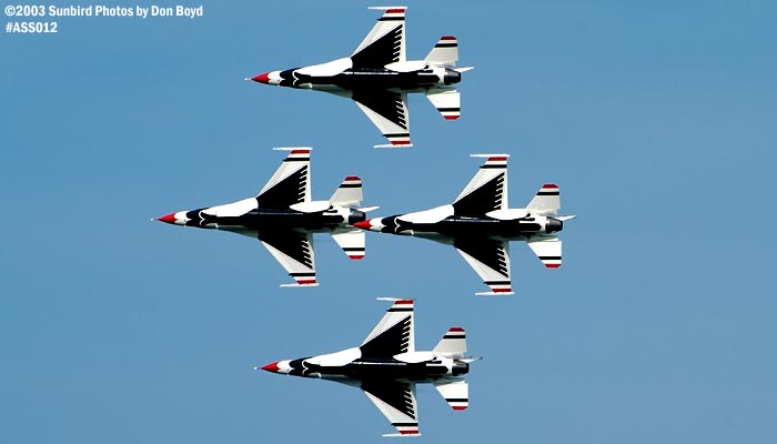 USAF Thunderbirds military aviation air show stock photo #4372