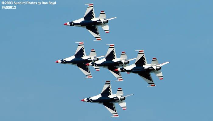 USAF Thunderbirds military aviation air show stock photo #4373