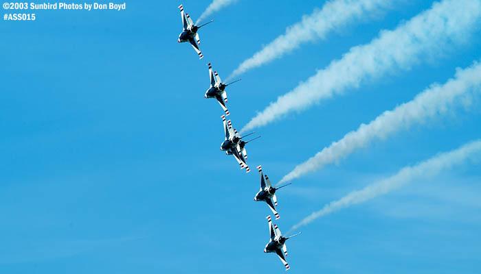 USAF Thunderbirds military aviation air show stock photo #4377