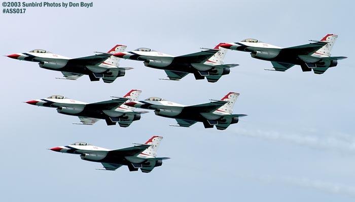 USAF Thunderbirds military aviation air show stock photo #4380