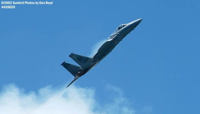 USAF F-15C-27-MC Eagle AF80-024 military aviation air show stock photo #4193