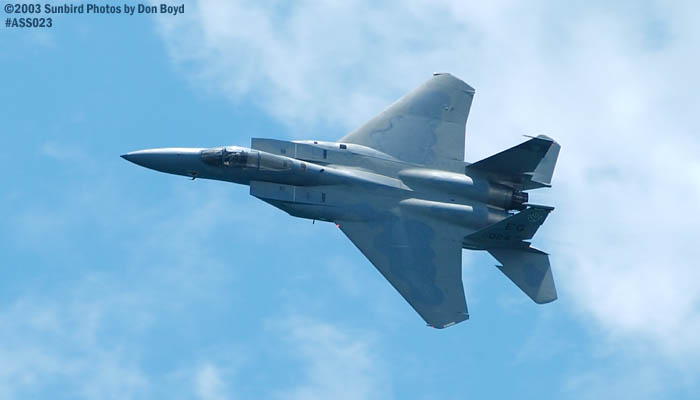 USAF F-15C-27-MC Eagle AF80-024 military aviation air show stock photo #4206