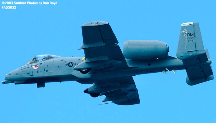 USAF A-10A AF80-142 military aviation air show stock photo #4226