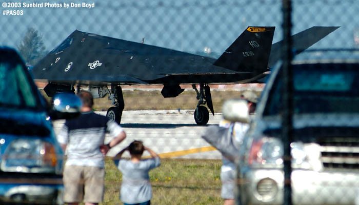 F-117A Nighthawk in takeoff position military aviation air show stock photo #4089