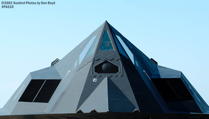 USAF F-117A Nighthawk AF81-798 from 49th Fighter Wing, Holloman AFB military aviation air show stock photo #4096