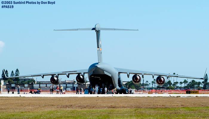 USAF Boeing C-17 Globemaster III military aviation air show stock photo #4107