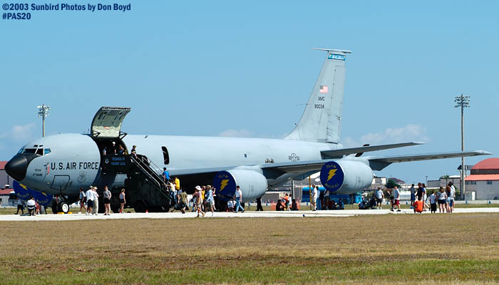 USAF Boeing KC-135R AF80-034  from 6th AMW at MacDill AFB military aviation air show stock photo #4108