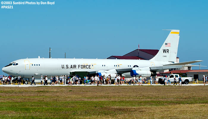 USAF Boeing E-8 trainer AF86-0416 from the 116th ACW wing at Robins AFB, GA military aviation air show stock photo #4109