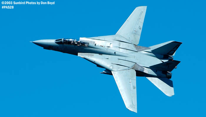 USN F-14 Tomcat from VF-101 Grim Reapers military aviation air show stock photo #4118
