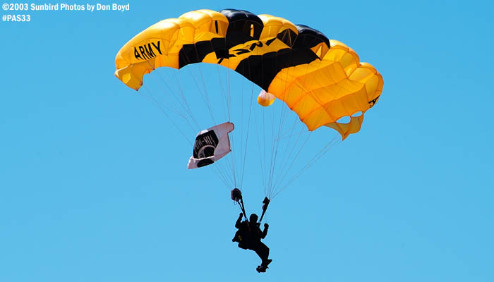 U. S. Army Golden Knight military aviation air show stock photo #4133