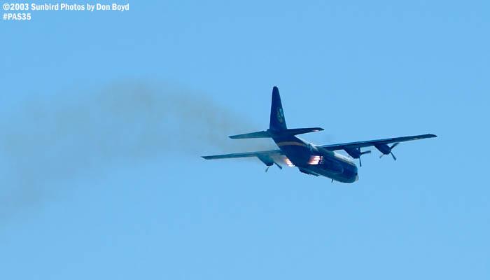 USMC Blue Angels C-130T Fat Albert  (New Bert) #164763 JATO takeoff military aviation air show stock photo #4135