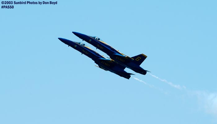 USN Blue Angels F/A-18 Hornets military aviation air show stock photo #4160