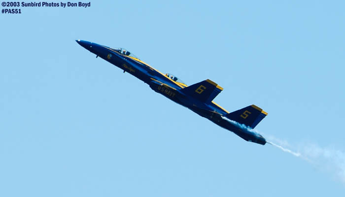 USN Blue Angels F/A-18 Hornets military aviation air show stock photo #4163