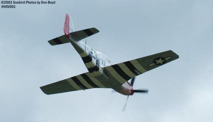 P-51 warbird air show stock photo #3668