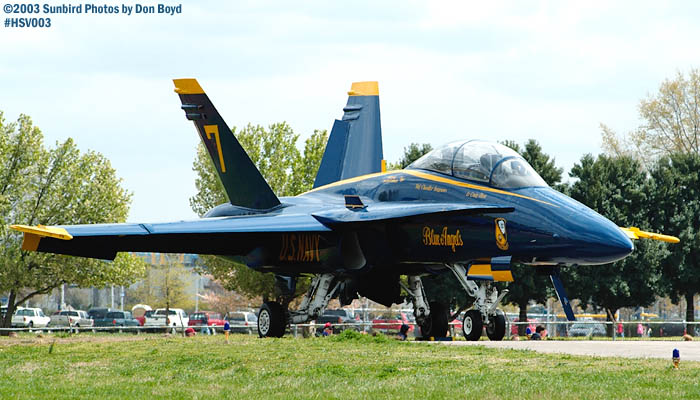 USN Blue Angels F/A-18 Hornet #7 military aviation air show stock photo #3671
