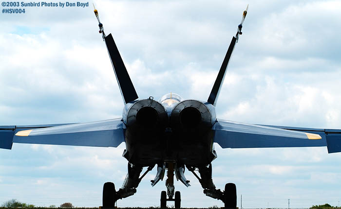 USN Blue Angel F/A-18 Hornet military aviation air show stock photo #3672