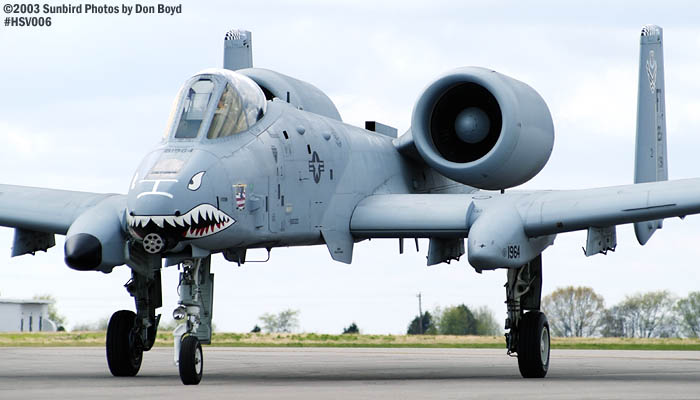 USAF A-10A Thunderbolt II AF81-964 military aviation air show stock photo #3680