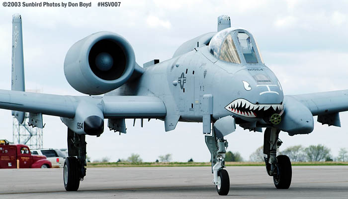 USAF A-10A Thunderbolt II AF81-964 aviation military air show stock photo #3681